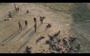 La matanza del granero de Hershel. Uno de los puntos álgidos de la segunda temporada, y de la serie