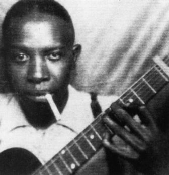 Una de las dos fotos de Robert Johnson