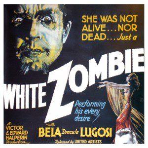 EL cartel de la primera película de zombies, aunque  parece de vampiros.