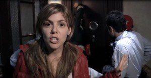 Ángela Vidal cuando aun grababa el programa de televisión.