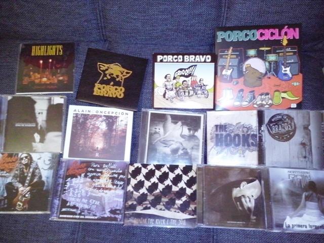mi colección de discos de grupos de rock locales. Seguirá creciendo, seguro