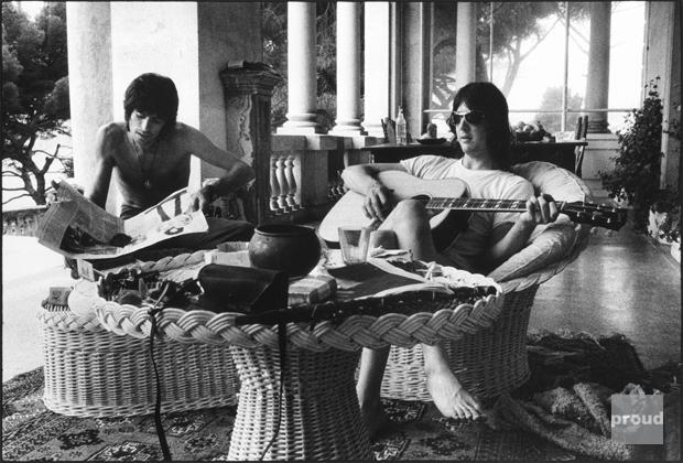 Gram y Keith en Villa Nellcôte