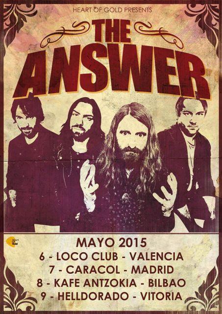 Cartel promocional de su inminente gira por España