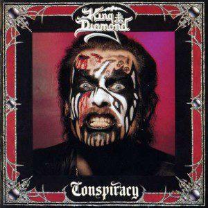 "King Diamond en la portada de ""Conspiracy"" (1989), ya con otro maquillaje"